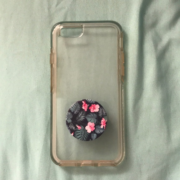 free shipping 1944c cd0e3 OtterBox Clear Case iPhone 6/6s / With Popsocket